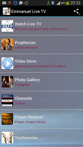 Emmanuel TV Live Android App Screenshot