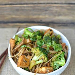 Buckwheat vermicilli Stirfry with Tofu.