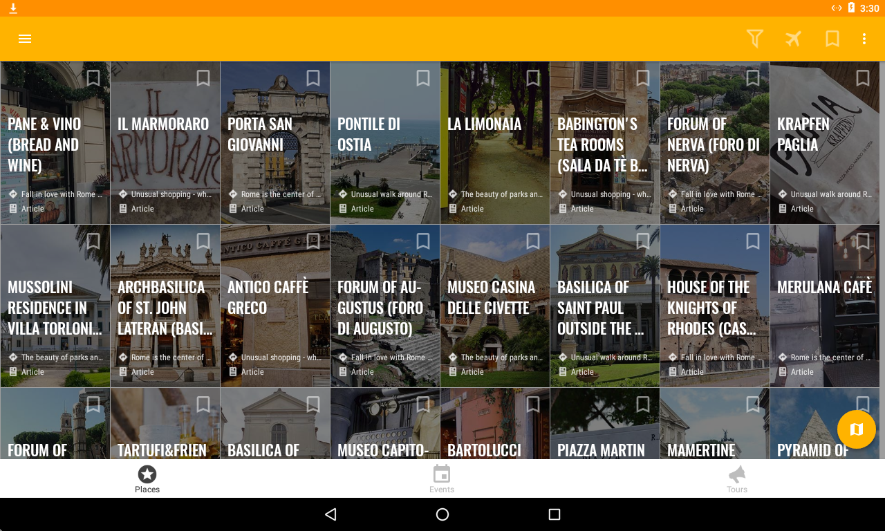 Rome Travel Map Guide in English with Events 2018- screenshot