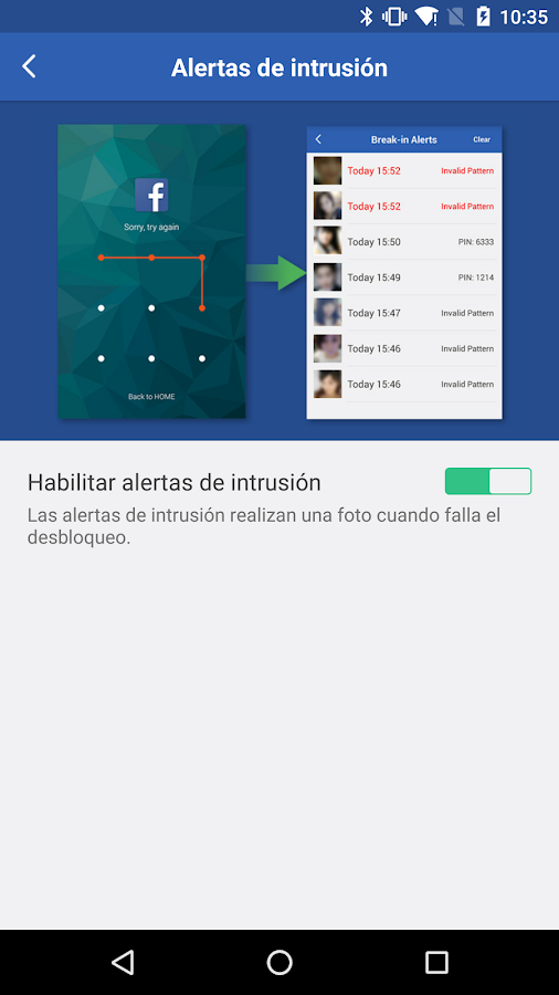 Smart AppLock Libre: captura de pantalla