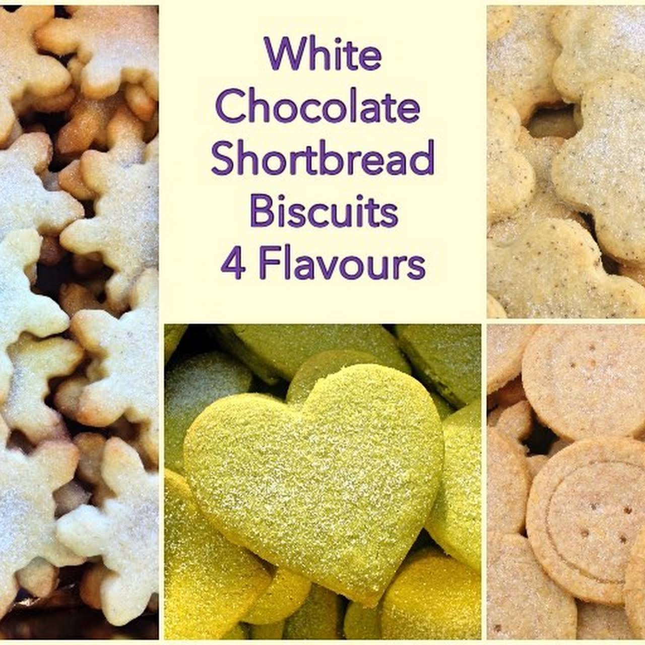 White Chocolate Shortbread Biscuits