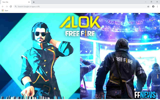 Garena Free Fire Alok Wallpapers and New Tab