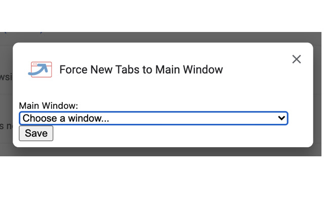 Force New Tabs to Main Window
