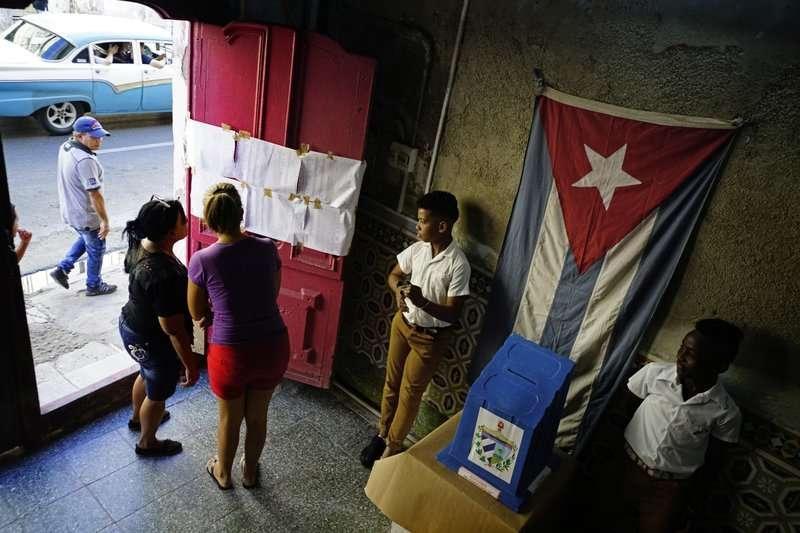 古巴26日舉行地方選舉。(美聯社)