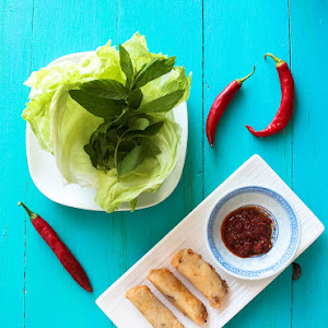 Vietnamese Spring Rolls with Spicy Sauce