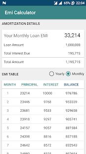 EMI Calculator (Mortgage) - náhled