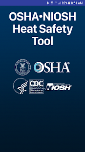 OSHA NIOSH Heat Safety Tool- screenshot thumbnail