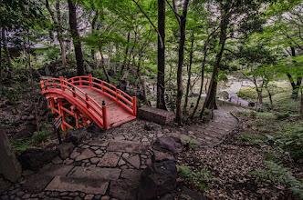 Photo: The path up to the tsutenkyo bridge at the Koishikawa Garden in Tokyo, Japan