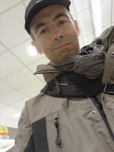 Photo: Showing off my new rain jacket to my wife via a picture I emailed