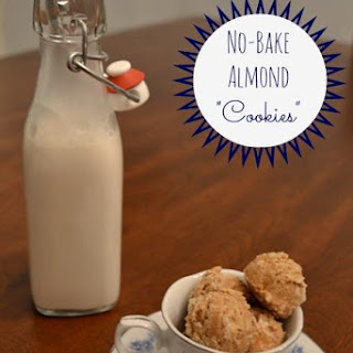No-Bake Almond Cookies Recipe, Dairy Free Gluten Free.