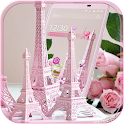 Eiffel Tower Pink Theme icon