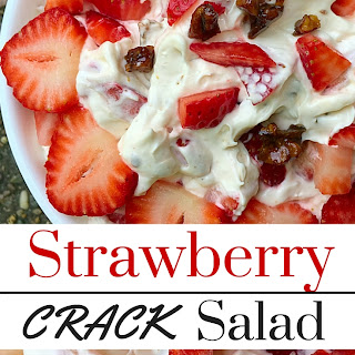 Strawberry Dessert Salad (with Toffee)
