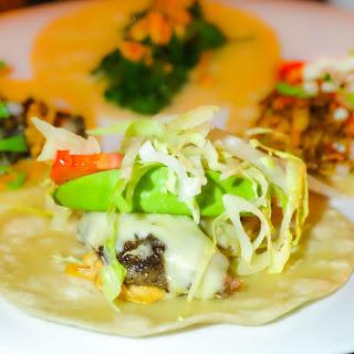 Potato and Red Chorizo Tacos with Salsa Verde