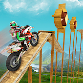 Crazy Bike Racing Stunt 3D Icon