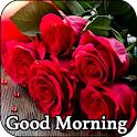 Good Morning Flowers and Roses Messages Images Gif icon