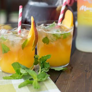 Spiked Iced Tea with Fresh Mango Purée