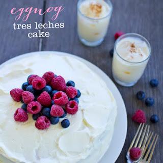 Eggnog Tres Leches Cake.