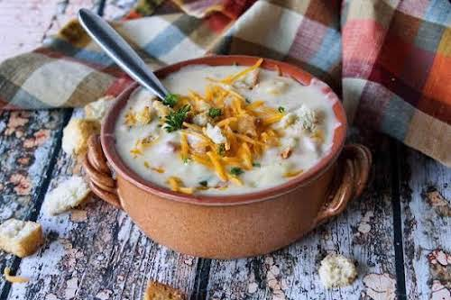 "Potato Soup With Ham""This is a great basic homemade potato soup that's..."