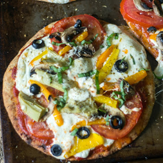 Mediterranean Veggie Flatbread Pizza.