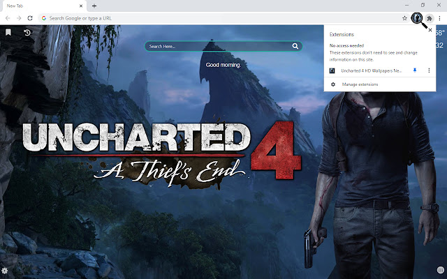 Uncharted 4 HD Wallpapers New Tab