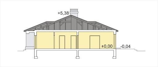 Milenka wersja B z podwójnym garażem - Przekrój