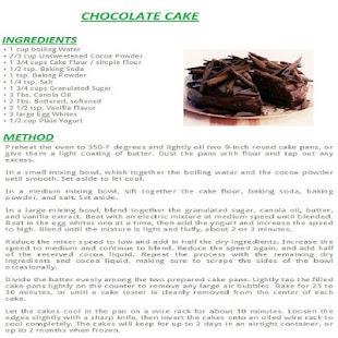 Chocolate Cake English Recipes Apps on Google Play