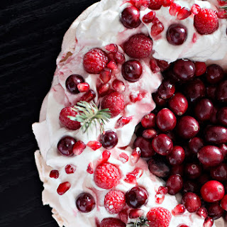 Cranberry Pomegranate Pavlova