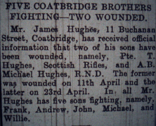 Michael Hughes newspaper clipping