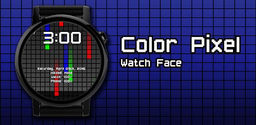 Watch Face: <b>Color</b> Pixel - Wear OS <b>Smartwatch</b>
