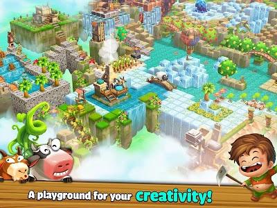 Cube Farm 3D: Skyland Craft v1.1.238a [Mod Money + Food]