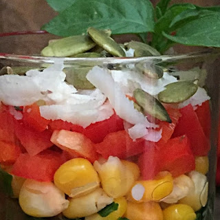Spinach Corn Pasta Salad | Pasta Salad with Tomato Garlic Dressing( Pasta Salad In A Jar) | How to make Pasta Salad | Office Lunch Box Ideas