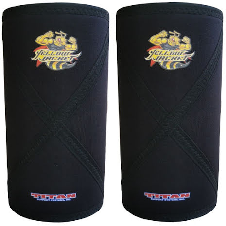 Titan Yellow Jacket All Black IPF Knee Sleeves