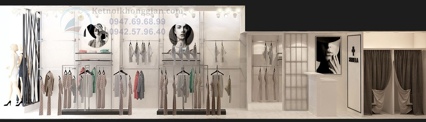 thiết kế cửa hàng thời trang nữ đẹp mắt uy tin