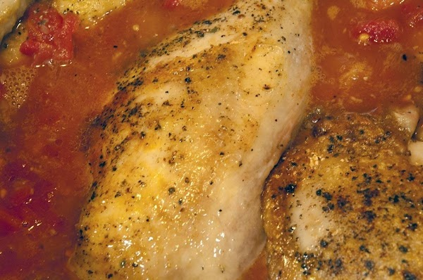 Return the chicken to the pan, and allow it to heat up a bit,...