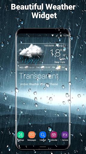 Transparent Weather Widget Raining  screenshots 4