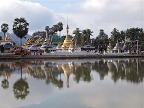 Photo: Wat Chong Kham and Wat Chong Klang from across the lake