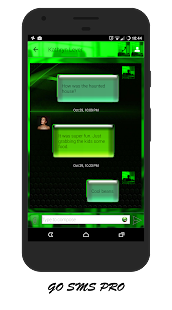 Green GO SMS / EvolveSMS Theme- screenshot thumbnail