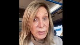 Pilar Eyre, en una captura del vídeo que ha compartido en Twitter.
