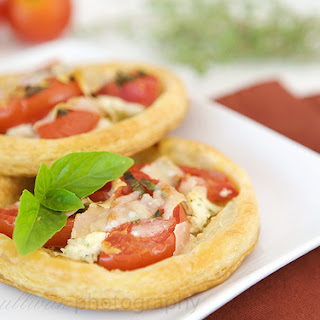 Tomato, Onion, and Goat Cheese Tarts