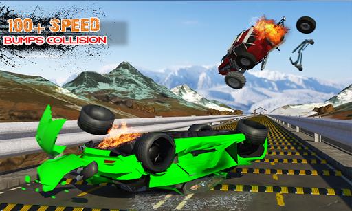 Deadly Car Crash Engine Damage: Speed Bump Race 18 screenshot 5