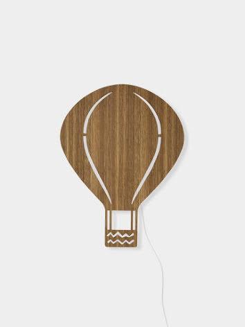 ferm LIVING Vägglampa Luftballong Ek