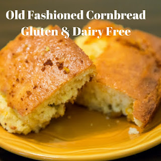 Old Fashioned Corn Bread Dairy & Gluten Free