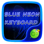 Blue Neon GO Keyboard Theme 1.85.5.1 Apk
