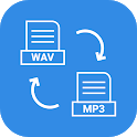 Wav to mp3 audio converter icon