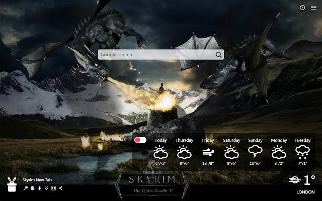 Skyrim New Tab, Wallpapers HD