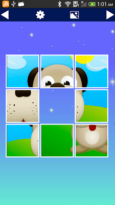 Slide puzzle for kids - screenshot
