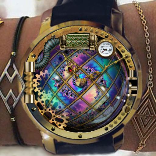 Steam Punk Clock Skin