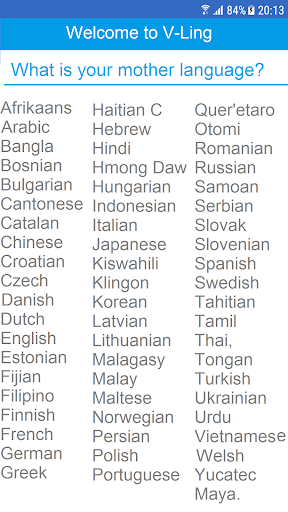V-Ling : English Vocabulary builder & counter. 1.7 screenshots 1