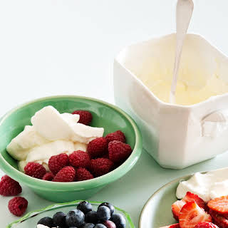 Berries And Whipped Cream.