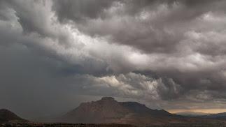 Formación de la tormenta vista desde Vélez Blanco